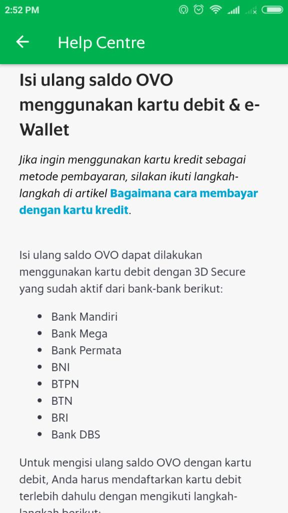 笔者开户的银行 BCA 并未被纳入 Ovo 借记卡合作计划