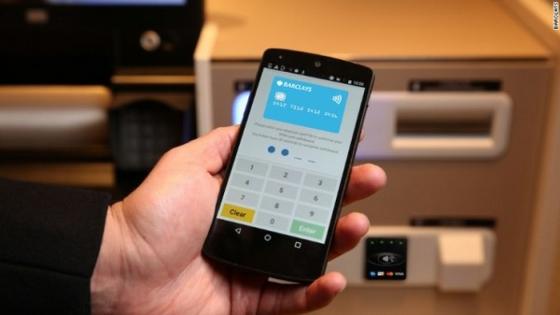巴克莱推具备非接功能的ATM机 支持NFC手机取款