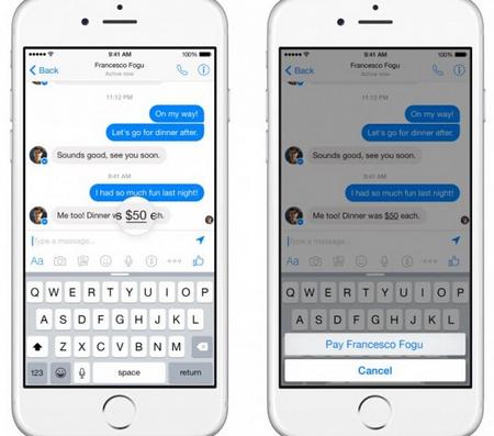 Facebook Messenger的移动支付