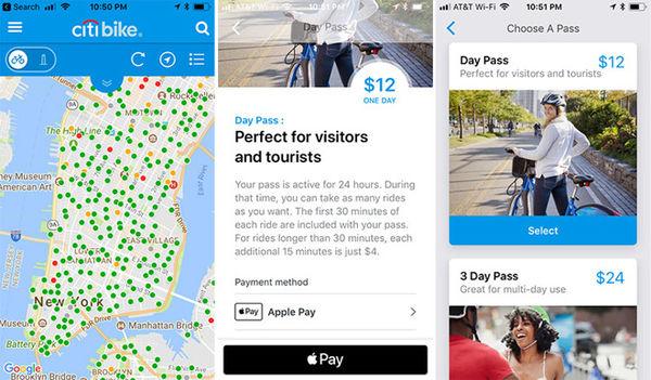 纽约公共自行车iOS应用更新 可Apple Pay支付